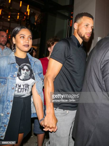 Stephen Curry and Ayesha Curry are seen on June 16 2017 in Los Angeles California