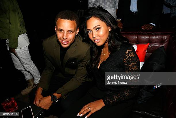 Stephen Curry and Ayesha Curry attend the NBA 2K16 Premiere at Marquee on September 21 in New York City