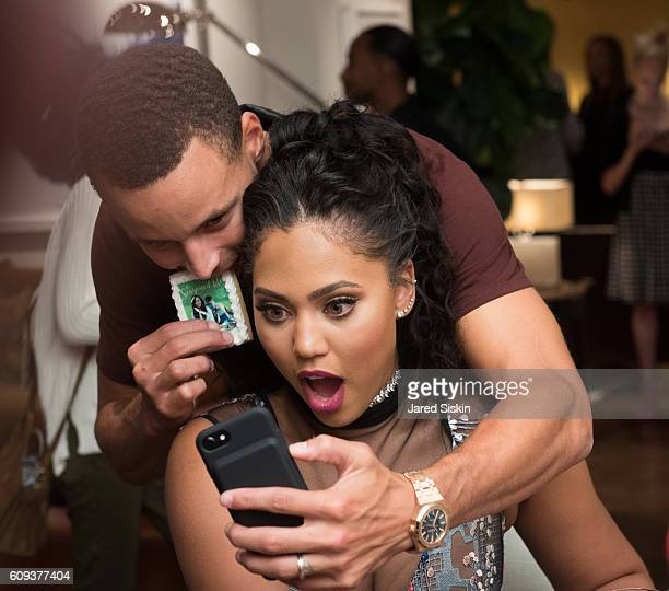 Williams sonoma ayesha curry book signing stock photos and for Steph curry wedding ring