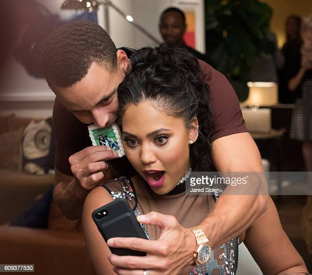 Stephen Curry and Ayesha Curry attend the WilliamsSonoma Ayesha Curry Book Signing at WilliamsSonoma Columbus Circle on September 20 2016 in New York...