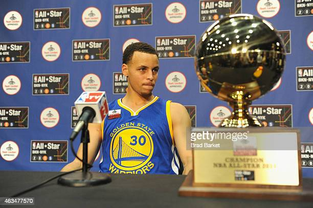 Stephen Curry attends State Farm AllStar Saturday Night NBA AllStar Weekend 2015 at Barclays Center on February 14 2015 in New York New York
