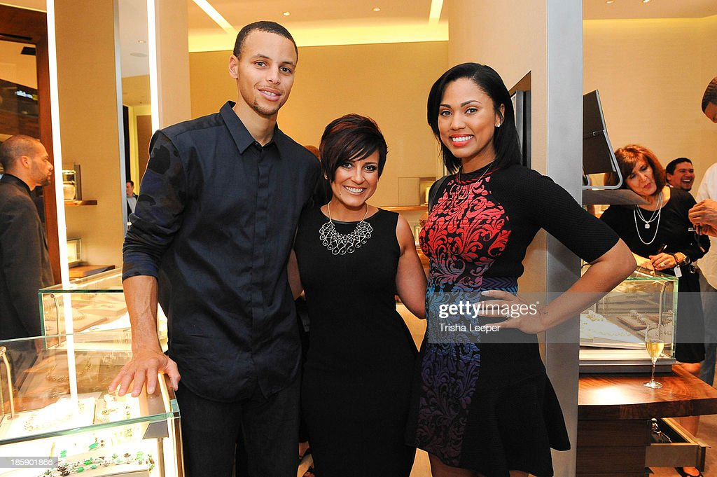 Stephen Curry, Katie Mancuso and Ayesha Curry attend the David Yurman Launch of The Meteorite Collection With Kent Bazemore at Westfield Valley Fair on October 25, 2013 in Santa Clara, California.