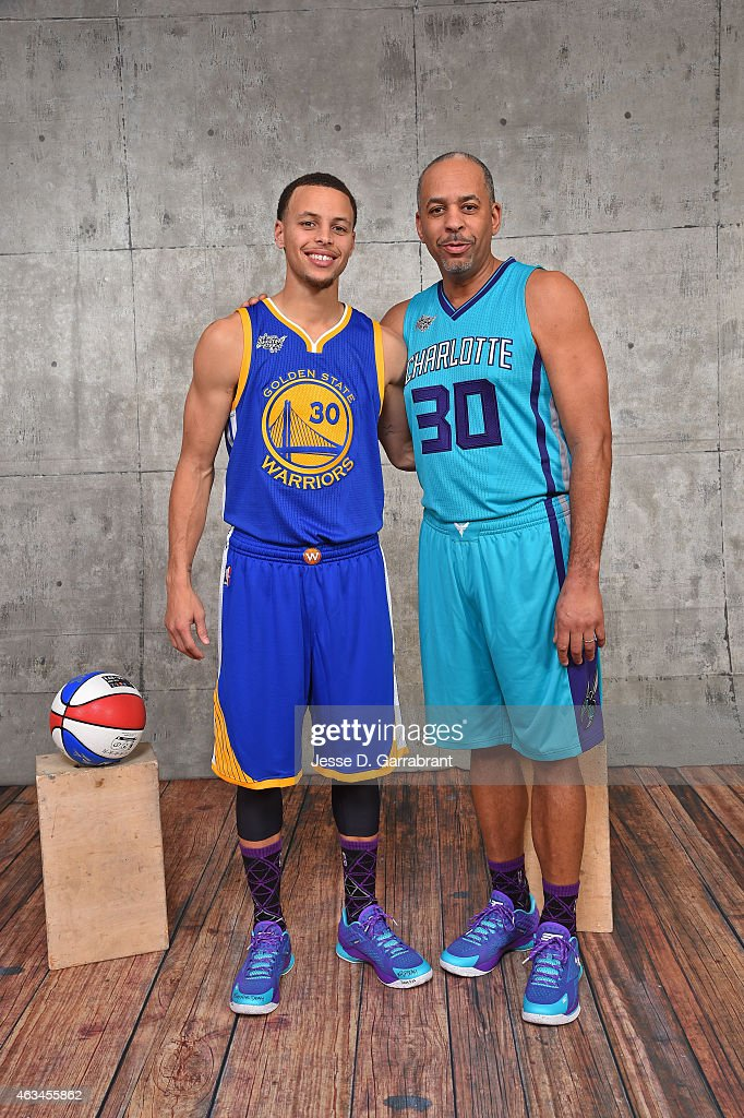 ¿Cuánto mide Stephen Curry? - Altura - Real height Stephen-curry-of-the-golden-state-warriors-and-his-father-dell-curry-picture-id463455862