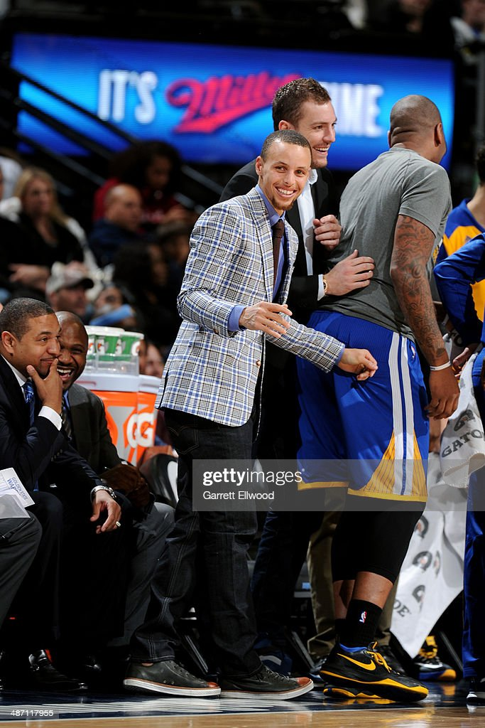 <a gi-track='captionPersonalityLinkClicked' href=/galleries/search?phrase=Stephen+Curry+-+Basketball+Player&family=editorial&specificpeople=5040623 ng-click='$event.stopPropagation()'>Stephen Curry</a> #30 of the Golden State Warriors celebrates during a game against the Denver Nuggets on April 16, 2014 at the Pepsi Center in Denver, Colorado.
