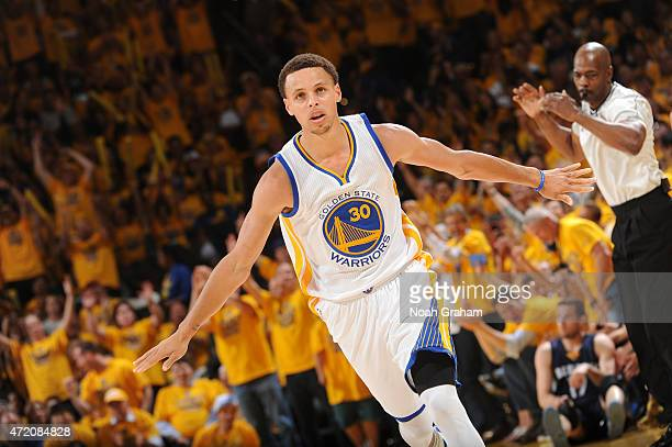 Stephen Curry of the Golden State Warriors during the game against the Memphis Grizzlies in Game One of the Western Conference Semifinals of the 2015...