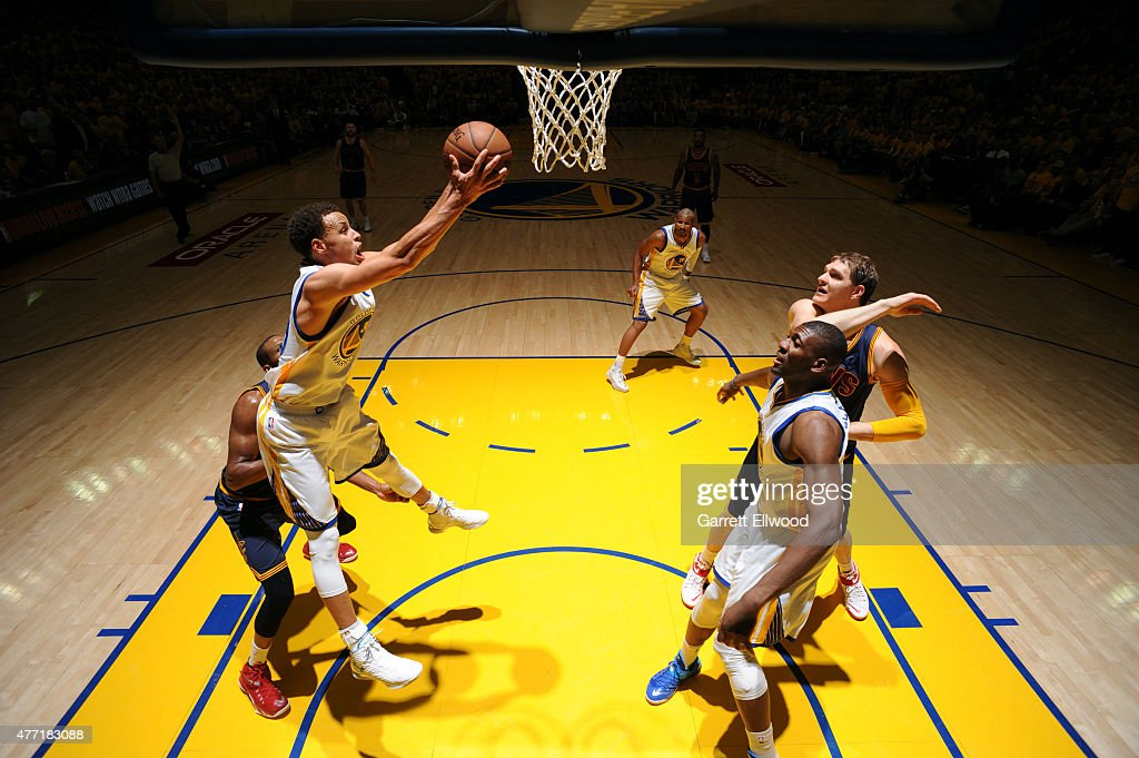 <a gi-track='captionPersonalityLinkClicked' href=/galleries/search?phrase=Stephen+Curry+-+Basketball+Player&family=editorial&specificpeople=5040623 ng-click='$event.stopPropagation()'>Stephen Curry</a> #30 of the Golden State Warriors grabs a rebound against the Cleveland Cavaliers in Game Five of the 2015 NBA Finals on June 14, 2015 at ORACLE Arena in Oakland, CA.
