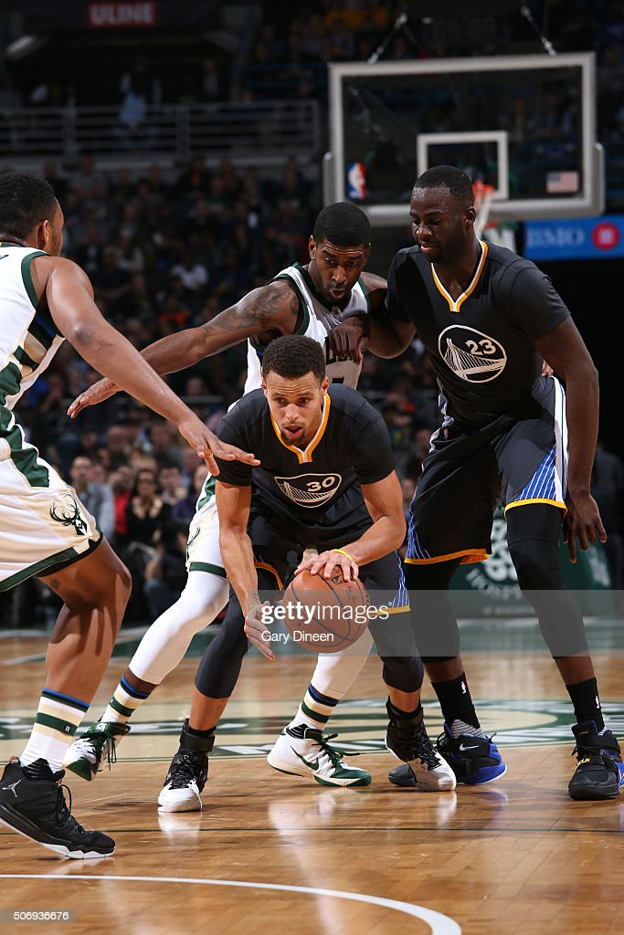 <a gi-track='captionPersonalityLinkClicked' href=/galleries/search?phrase=Stephen+Curry+-+Basketball+Player&family=editorial&specificpeople=5040623 ng-click='$event.stopPropagation()'>Stephen Curry</a> #30 of the Golden State Warriors handles the ball during the game against the Milwaukee Bucks on December 12, 2015 at the BMO Harris Bradley Center in Milwaukee, Wisconsin.