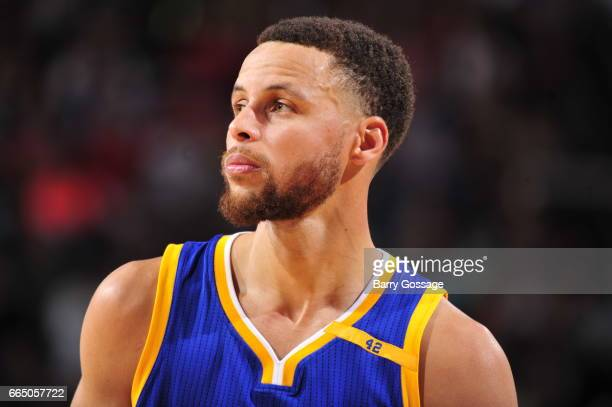 Stephen Curry of the Golden State Warriors is seen during the game against the Phoenix Suns on April 5 2017 at Talking Stick Resort Arena in Phoenix...