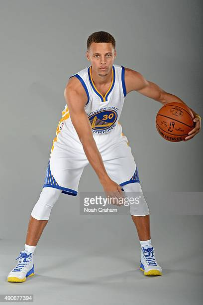 Stephen Curry of the Golden State Warriors poses for a portrait on September 28 2015 at the Warriors practice facility in Oakland California NOTE TO...