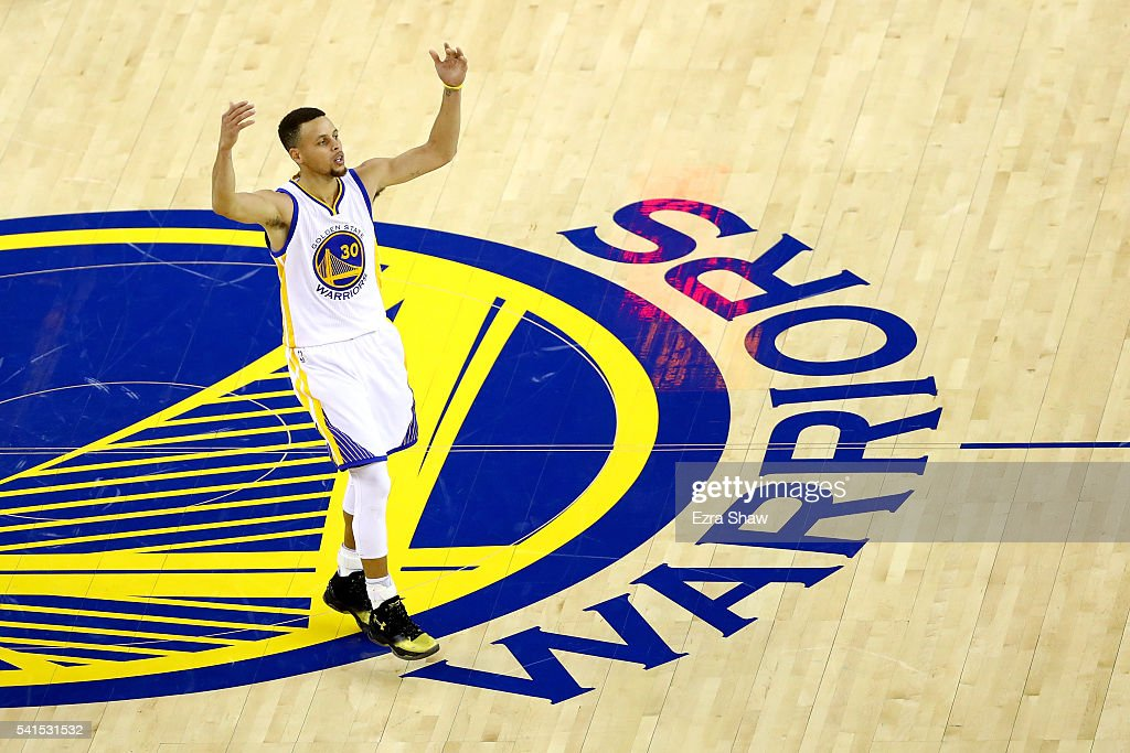 Stephen Curry #30 of the Golden State Warriors reacts to a play in Game 7 of the 2016 NBA Finals against the Cleveland Cavaliers at ORACLE Arena on June 19, 2016 in Oakland, California.