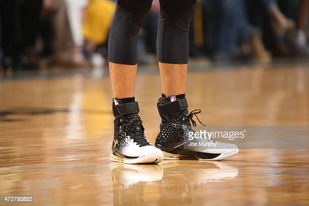 Stephen Curry of the Golden State Warriors sneakers during Game Three of the Western Conference Semifinals against the Memphis Grizzlies of the NBA...