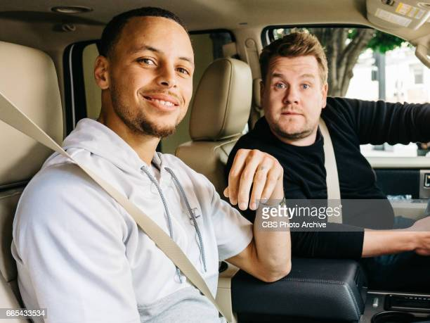 Stephen Curry performs a Carpool Karaoke with James Corden during 'The Late Late Show with James Corden' Monday April 3 2017 On The CBS Television...