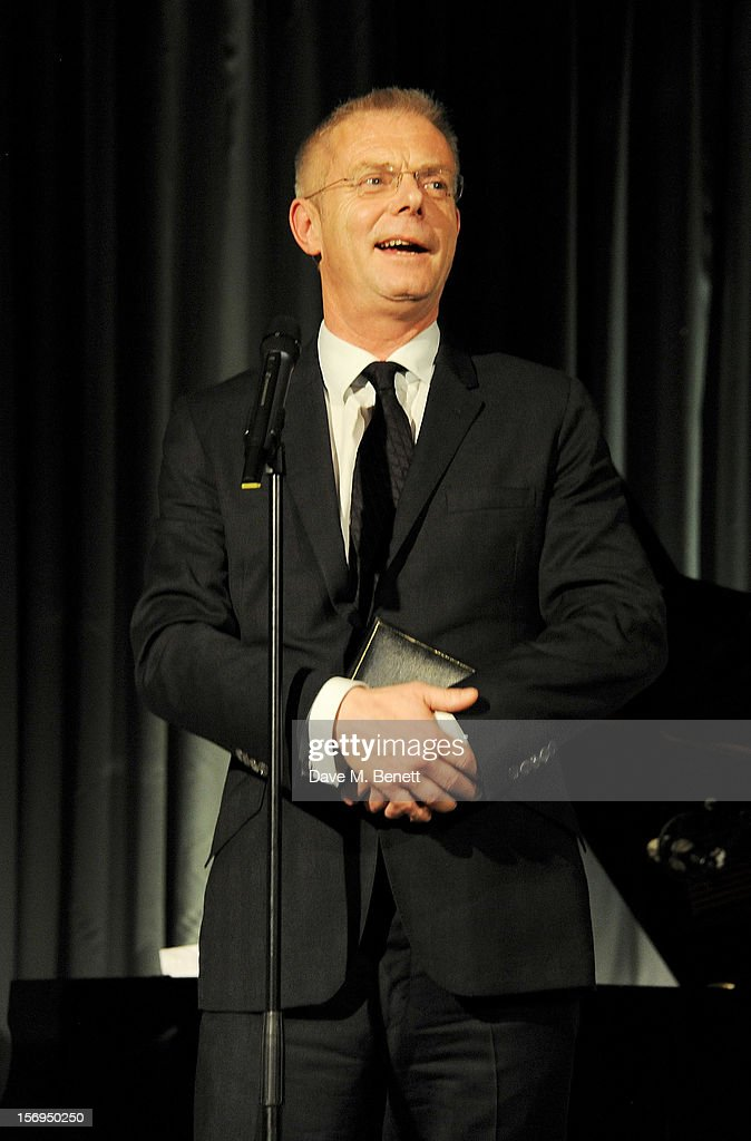 Stephen Daldry accepts an award at the 58th London Evening Standard Theatre Awards in association with Burberry at The Savoy Hotel on November 25, 2012 in London, England.