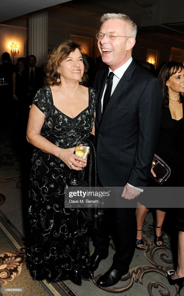 Stephen Daldry (R) attends a drinks reception at the 58th London Evening Standard Theatre Awards in association with Burberry at The Savoy Hotel on November 25, 2012 in London, England.