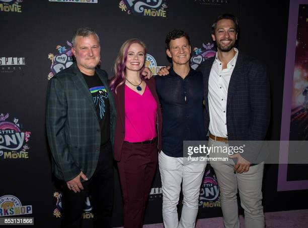 Stephen Davis Meghan McCarthy Brian Goldner and Josh Feldman attend 'My Little Pony The Movie' New York Screening at AMC Lincoln Square Theater on...