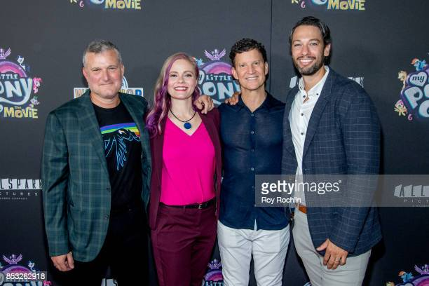 Stephen Davis Meghan McCarthy Brian Goldner and Josh Feldman attends 'My Little Pony The Movie' New York screening at AMC Lincoln Square Theater on...