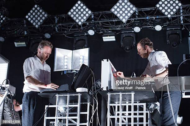 Stephen Dewaele and David Dewaele from Soulwas perform at Rock en Seine on August 28 2016 in Paris France