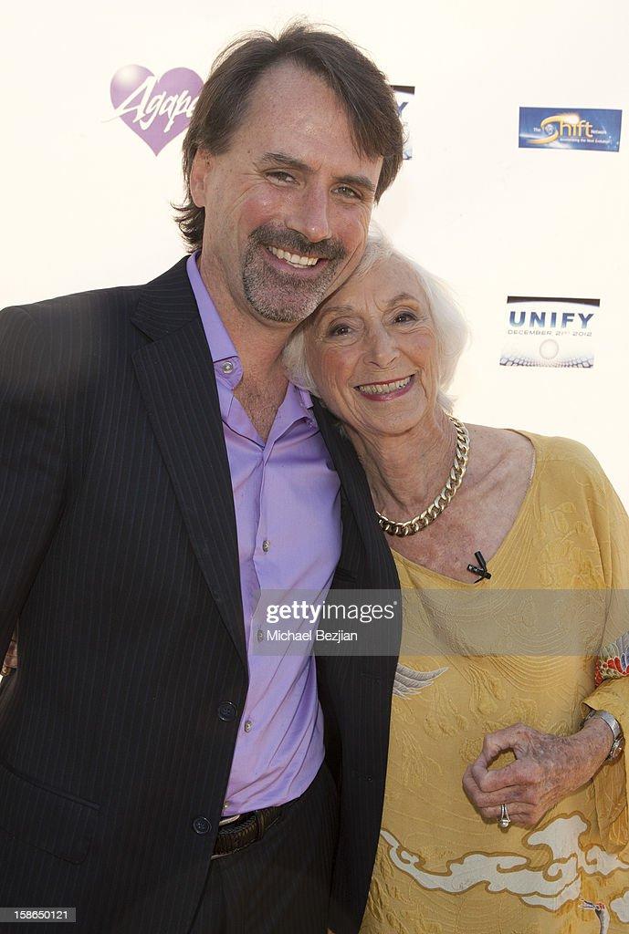 Stephen Dinan and Barbara Marx Hubbard attend Birth 2012 LA Gala at Agape International Spiritual Center on December 22, 2012 in Los Angeles, California.