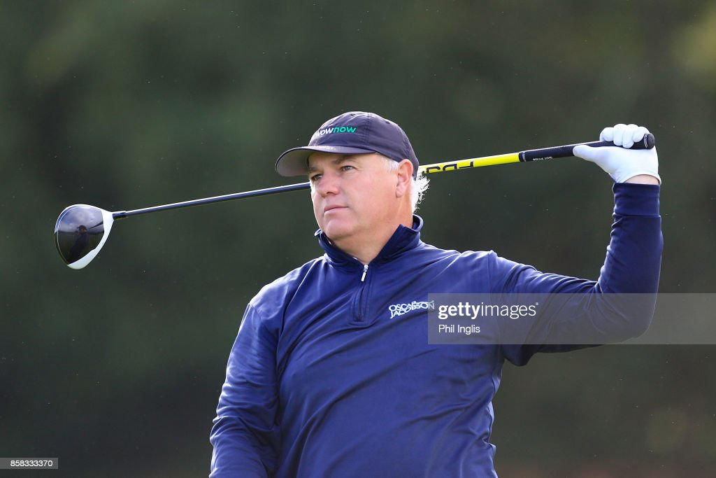 Stephen Dodd of Wales in action during the first round of the Dutch Senior Masters played at The Dutch on October 6, 2017 in Spijk, Netherlands.