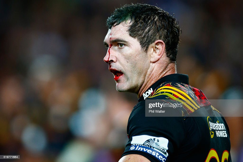 Stephen Donald of the Chiefs looks on during the round seven Super Rugby match between the Chiefs and the Blues on April 8, 2016 in Hamilton, New Zealand.