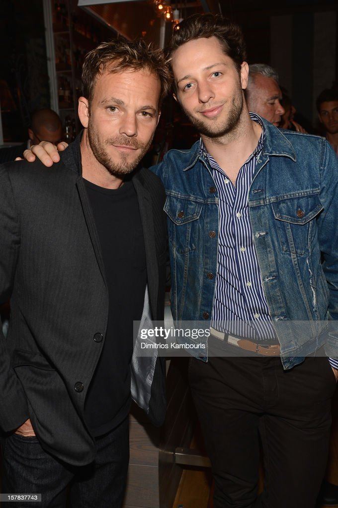 Stephen Dorff and Derek Blasberg attend the Aby Rosen & Samantha Boardman dinner at The Dutch on December 6, 2012 in Miami, Florida.