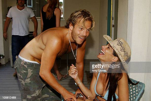 Stephen Dorff and Hilary Shepard during Jessica Meisels' Birthday Party at Private Residence in Malibu California United States