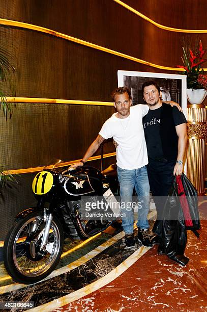 Stephen Dorff and Matchless Managing Director Michele Malenotti attend Matchless Presents 'Marlon Brando 90th Birthday Celebration Collection...