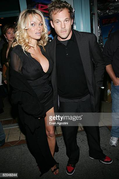 Stephen Dorff and Pamela Anderson attend the Rize Premiere Party at the Gateway Office Business Center during the 2005 Sundance Film Festival on...