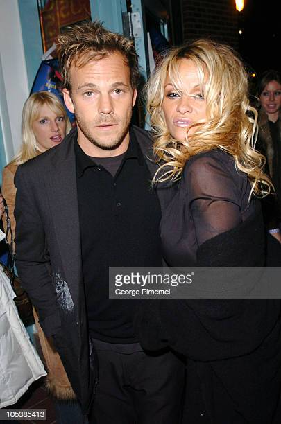 Stephen Dorff and Pamela Anderson during 2005 Sundance Film Festival 'Rize' After Party at The Gateway Center in Park City Utah United States