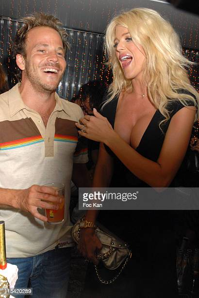 Stephen Dorff and Victoria Silvstedt during Stephen Dorff Birthday at the Swedish Party at VIP Room in St Tropez France