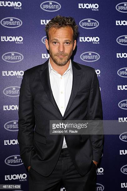 Stephen Dorff attends the Bugatti and L'Uomo Vogue 'The magic of la vie en bleu' Collection party as a part of Milan Fashion Week Menswear...