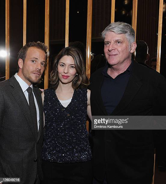 Stephen Dorff director Sofia Coppola and John Lyons attends the after party for the New York screening of 'Somewhere' at The Top of The Standard on...