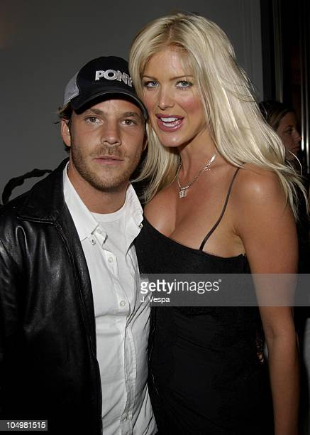 Stephen Dorff Victoria Silvstedt during Cannes 2002 'Searching for Debra Winger' Dinner in Cannes France