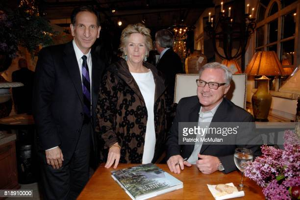 Stephen Drucker Bunny Williams and Bobby McAlpine attend Book Party for BOBBY MCALPINE'S 'THE HOME WITHIN US' from RIZZOLI at Treillage on May 18th...