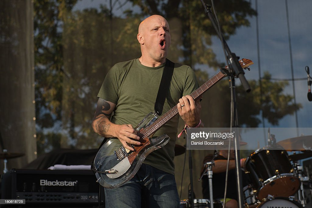 Stephen Egerton of FLAG of performs on stage on Day 2 of Riot Fest and Carnival 2013 at Humboldt Park on September 14, 2013 in Chicago, Illinois.
