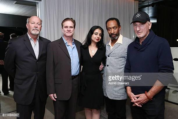 Stephen Eich Tony Carlin Mahira Kakkar Michael Rogers and Dick Tarlow attend 'The Trial Of An American President' After Party at The Lindeman on...
