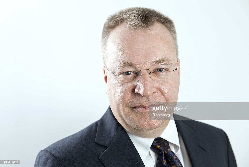 <a gi-track='captionPersonalityLinkClicked' href=/galleries/search?phrase=Stephen+Elop&family=editorial&specificpeople=7180953 ng-click='$event.stopPropagation()'>Stephen Elop</a>, chief executive officer of Nokia Oyj, poses for a photograph in Stockholm, Sweden, on Monday, March 11, 2013. Nokia Oyj, the Finnish mobile-phone maker attempting a comeback with handsets running Microsoft Corp. software, expects to pay its partner about a net 500 million euros ($650 million) as part of the companies' accord. Photographer: Casper Hedberg/Bloomberg via Getty Images