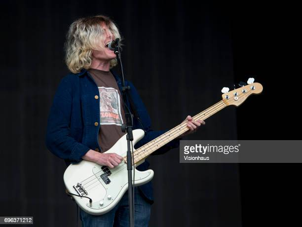 Stephen Evans bass player with Cabbage performs at The Parklife Festival 2017 at Heaton Park on June 10 2017 in Manchester England