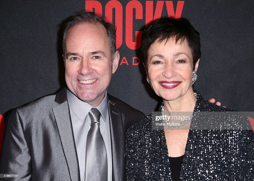 Stephen Flaherty and Lynn Ahrens attend the 'Rocky' Broadway Opening Night After Party at Roseland Ballroom on March 13, 2014 in New York City.