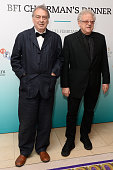 Stephen Frears and Jeremy Thomas arrive at the BFI Chairman's Dinner at The Corinthia Hotel on February 23 2016 in London England