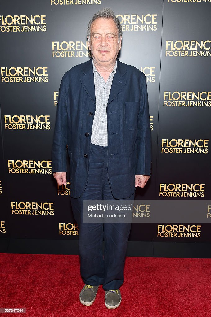 Stephen Frears attends the 'Florence Foster Jenkins' New York premiere at AMC Loews Lincoln Square 13 theater on August 9 2016 in New York City