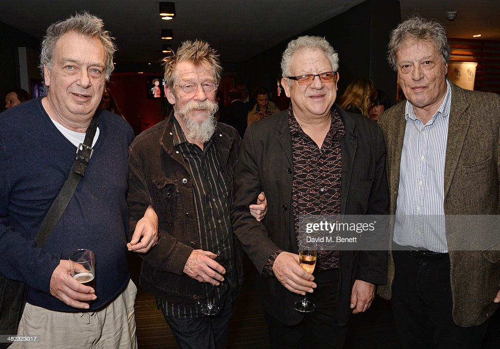 Stephen Frears John Hurt Jeremy Thomas and Sir Tom Stoppard attend the launch of the 3rd annual 'Made In Britain' season featuring the films of...