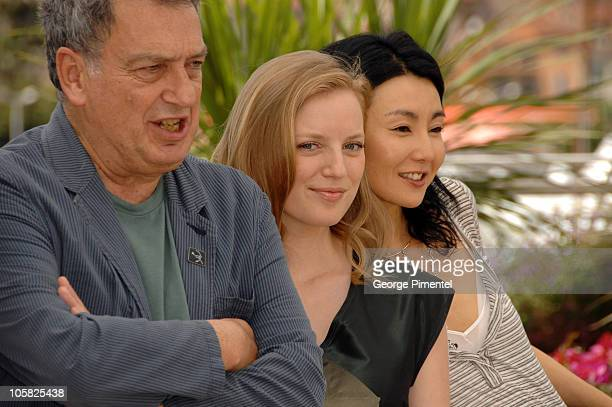 Stephen Frears president of the jury Sarah Polley and Maggie Cheung