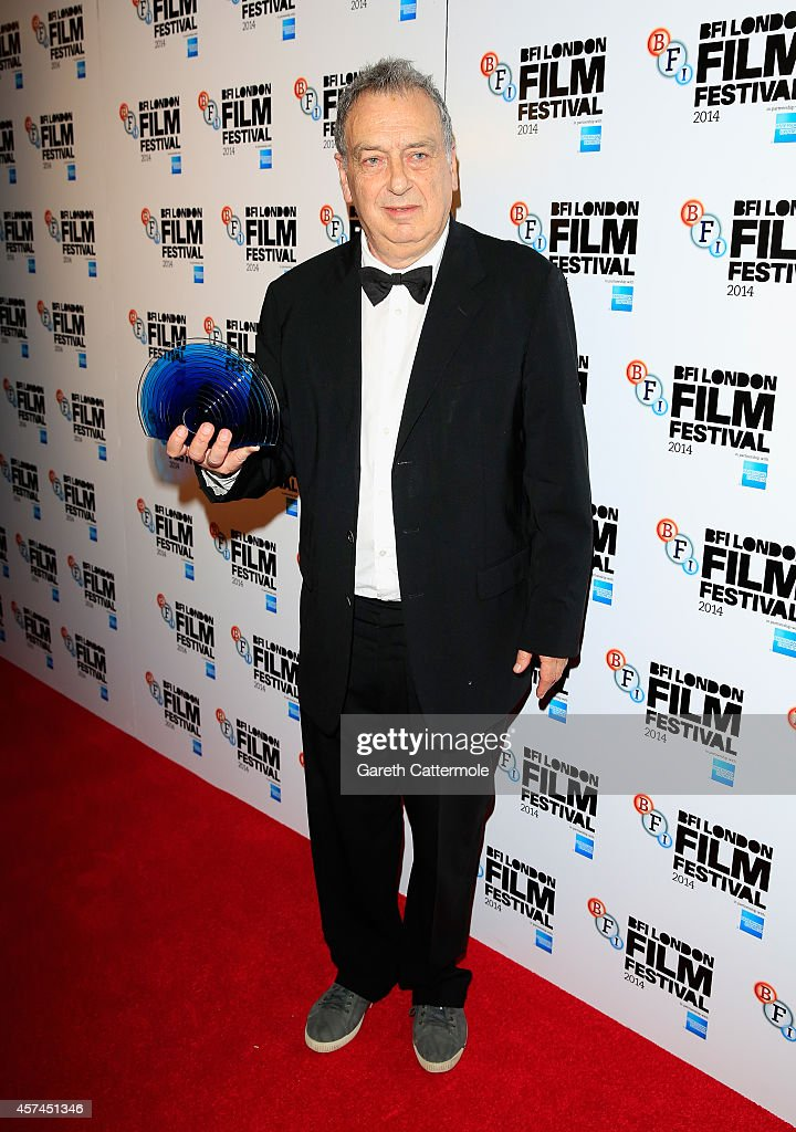 Stephen Frears with the Fellowship award at the BFI London Film Festival Awards during the 58th BFI London Film Festival on October 18 2014 in London...