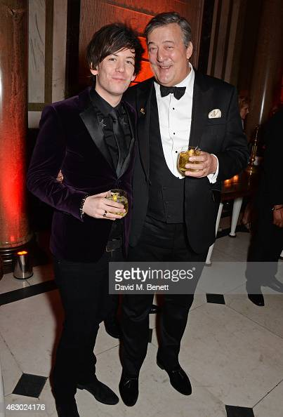 Stephen Fry and Elliott Spencer attend The Weinstein Company Entertainment Film Distributor StudioCanal 2015 BAFTA After Party in partnership with...