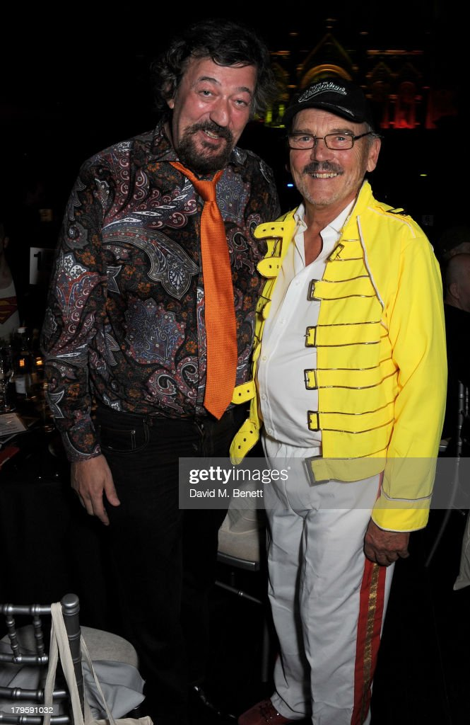 Stephen Fry (L) and Jim Beach attend the Queen AIDS Benefit in support of The Mercury Phoenix Trust at One Mayfair on September 5, 2013 in London, England.
