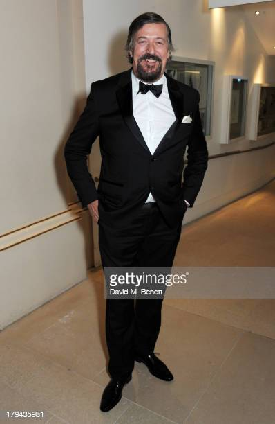 Stephen Fry arrives at the GQ Men of the Year awards at The Royal Opera House on September 3 2013 in London England