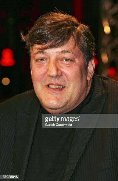 Stephen Fry arrives at the UK Premiere of 'V For Vendetta' at the Empire Leicester Square on March 8 2006 in London England The film is based on the...