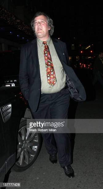 Stephen Fry attending The Muppets film premiere at the Mayfair Hotel on January 27 2012 in London England