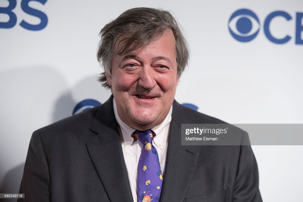 Stephen Fry attends 2016 CBS Upfront at The Plaza on May 18, 2016 in New York City.